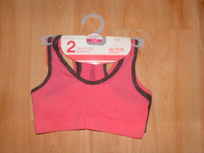 fab6b12604 2 X GIRLS Primark Crop Tops First Bra   Matching Knickers Age 5-15 ...