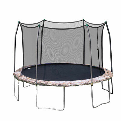 Skywalker Trampolines 12 Foot Round Outdoor Trampoline with Enclosure, Camo