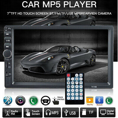 "Bluetooth 7"" Car Stereo Radio MP5 MP3 Player 2 Double DIN Touch Screen 7018B UK"