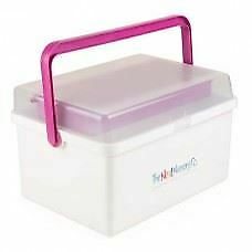 The Neat Nursery Co Pink & White Baby Nappy Bathing Box