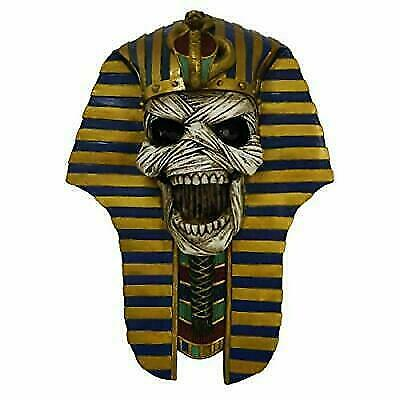 Screaming Mummy Golden Mask of Pharaoh Egyptian King Tut Bust Wall Decor Plaque