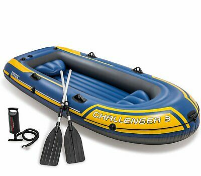 Intex Schlauchboot Challenger 3 Set Boot Ruderboot Angelboot Motorboot 68370