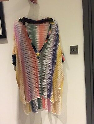 a360cdee8f42 Authentic Missoni Mare Knit Kaftan Cover Up Poncho Size IT 40 EU SMALL UK 8  Sexy