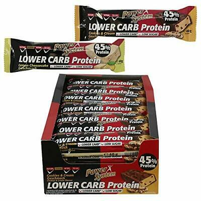 Power System LOW er CARB Protein Riegel mit 45% Eiweiss - Bar 2(Mixed - Pack)