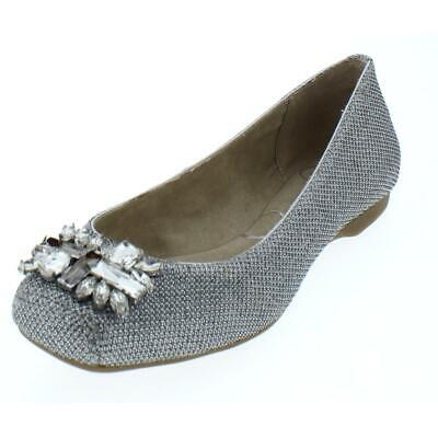 745788f97fb JESSICA SIMPSON WOMENS Mollins Silver Dress Flats Shoes 6 Medium (B ...