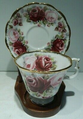 Royal Albert England Summer Bounty Series Ruby Pattern Cup & Saucer - Roses!!
