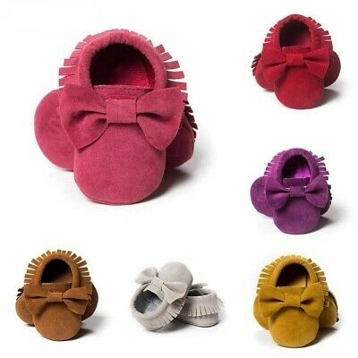 Baby Newborn Moccasins Shoes First Walkers Boy Girl Soft Soled Non-slip Girls