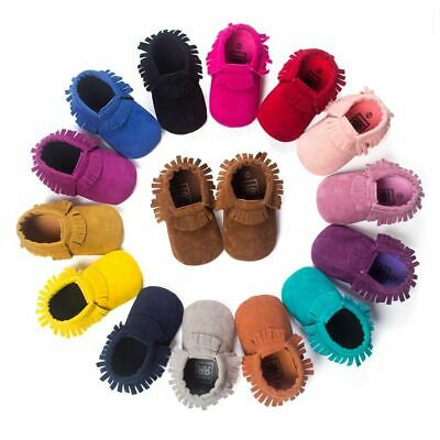 Newborn Baby Moccasins Shoes Soft Soled Non-slip First Walker PU Suede Leather