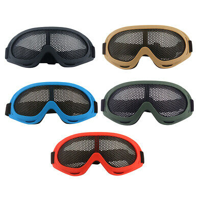 Metal Mesh Goggle Anti-fog Glasses with Adjustable Strap for Cycling Hiking