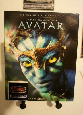 Avatar (Blu-ray/DVD, 2012, 2-Disc Set, Limited Edition 3D ) NEW free shipping
