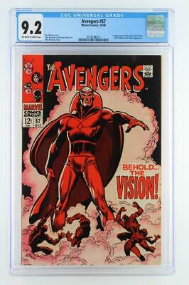 Avengers #57 - CGC 9.2 NM- Marvel 1968 - 1st App of the Silver Age Vision!!!