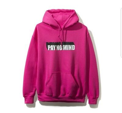 c7be1906bc6b New Authentic Anti Social Social Club ASSC Pay No Mind Pink Logo Hoodie  Supreme