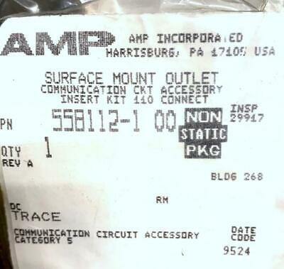 New AMP 558112-1 00 Comm. Circuit Accessory Surface Mount Outlet (10 Available)