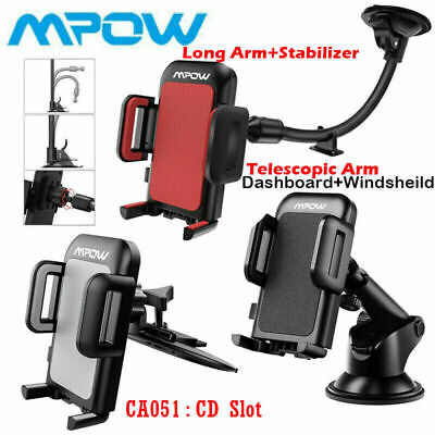Universal 360° Car Phone Mount Holder Stand Windshield Dashboard CD Slot Suction