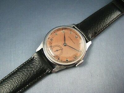 Rare Longines Stainless St. 12.68Z WW2 Era Military Style Vintage Mens Watch