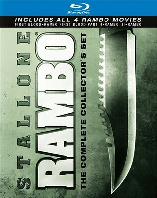 RAMBO COMPLETE COLLECTOR'S SET New Blu-ray All 4 Films First Blood