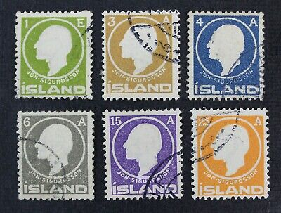 CKStamps: Iceland Stamps Collection Scott#86-91 Used