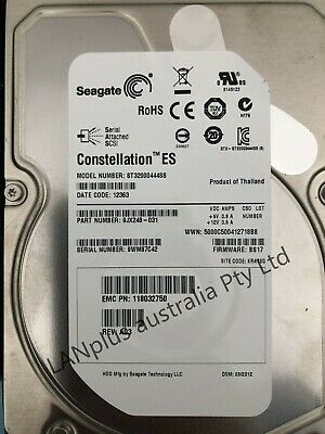 Dell Seagate Constellation ES 2TB SAS 7.2K 6Gb/s 3.5'' Hard Drive 4 R710 R610 R5