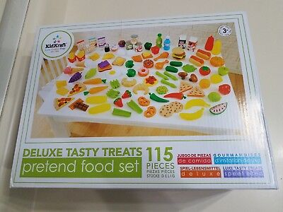 Kidkraft Pretend Food Role Play Tasty Treats 125 Pieces Gift Boxed