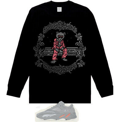 0ab10222a2da6 Long Sleeve Kanye west Dropout Bear salmon shirt match Yeezy Boost 700  Inertia
