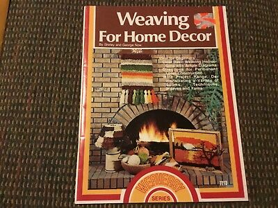 Weaving for Home Decor Shirley George Now Loom Vintage Techniques Pattern Book