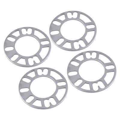 Aluminum Alloy Shims Plate Wheel Tire Spacers Adaptor for 4/5 Stud 4PCS 5mm Car