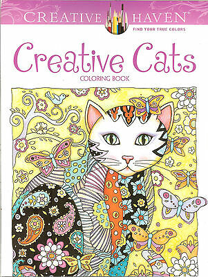 Creative Cats - A Creative Haven Adult Coloring Book from Dover Publications NEW