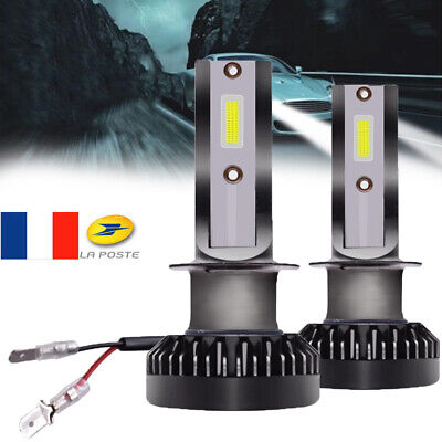 2X Mini 110W 20000LM H1 LED Voiture Lampe Phare Feux Ampoule High Low Beam Lamp