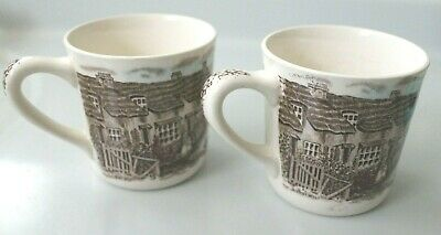 JOHNSON BROS mugs OLDE ENGLISH COUNTRYSIDE x 2 brothers