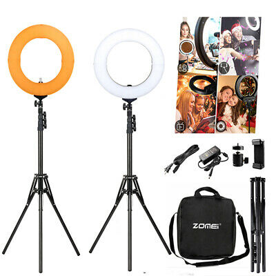 "18"" LED Ring Light with Stand Dimmable Photo Studio Flashes For  Video Camera"