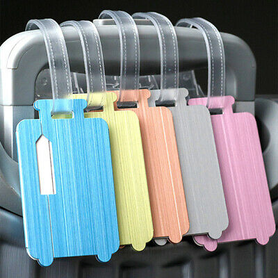 Luggage Tag Travel Suitcase Bag Tags Address Label Baggage Aluminum New OE
