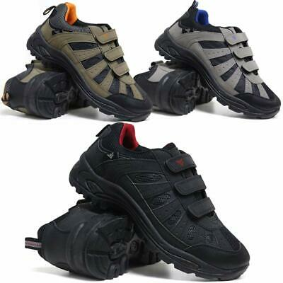 New Mens Touch Fastening Hiking Boots Walking Trekking Trail Trainers shoes Size