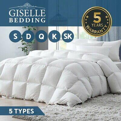 Giselle Bedding Wool/Bamboo/Microfiber/Duck/Goose Feather Down Quilt Doona Duvet