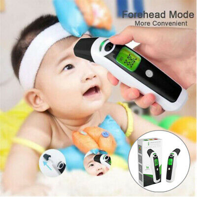 3 in 1 LCD Digital Forehead and Ear Thermometer IR Infrared Baby Adult Objects