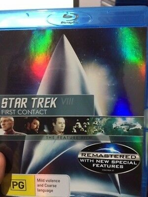 Star Trek Vlll - First Contact (Remastered with new special features)  Blu-ray