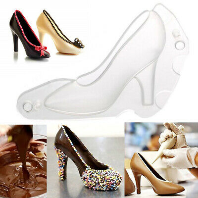 3D Clear High Heel Shoes Mold Chocolate Candy Cake Mould DIY Baking Decoration