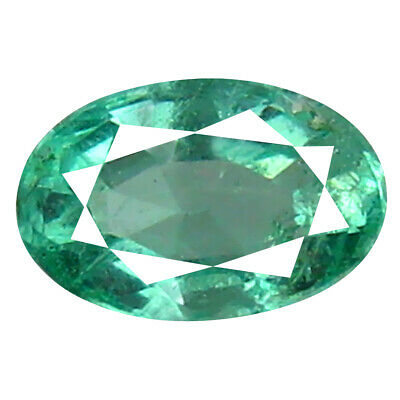 0.46 ct Outstanding Oval Cut (6 x 4 mm) Colombian Emerald Natural Gemstone