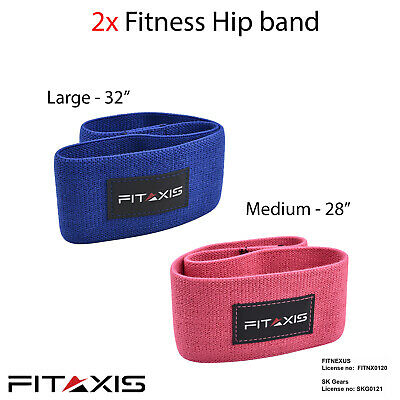 FITAXIS Hip Resistance Bands Booty Rotation Gym Exercise Expanders Straps New..