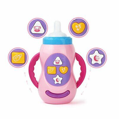 Baby Kids Sound Music Light Milk Bottle Learning Musical Feeding Bottle Toys