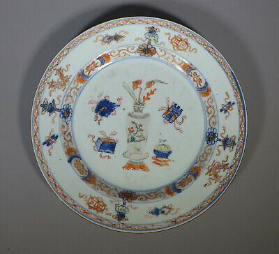 Antique 18Th C.? Chinese Porcelain Plate - Scholarly Objects Design