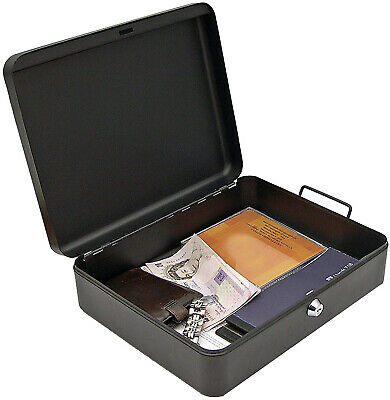 Fireproof Security Chest Large Cash Safe Key Lock Box Fire Resistant Waterproof
