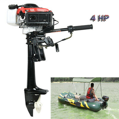 4 Stroke 4 HP Outboard Motor With Air Cooling System 38CC Boat Engine New