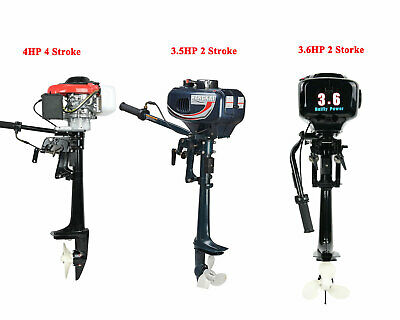 3.5/3.6/4 HP Outboard Motor 2/4 Stroke Boat Engine With Air/water Cooling System