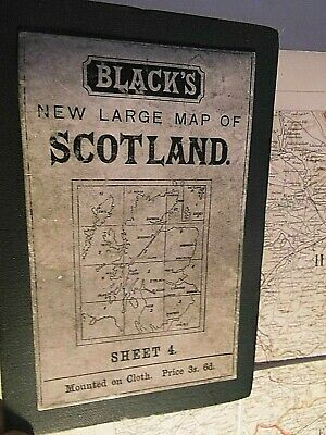 Edinburgh,Forth Fife & Southeast Scotland:blacks Antique Map Engraved Handcolour