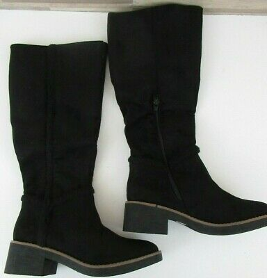 eca3267cfe2 Sociology Women s Tall Shearling Trimmed Boots - Black - Size  9 Knee High  ...