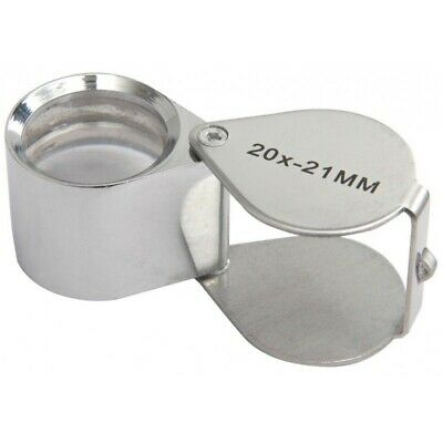 RVFM Pocket Magnifier 20x Magnification with Case