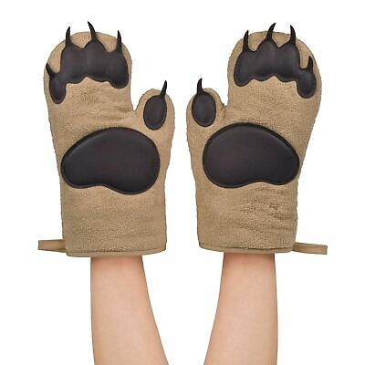 Bear Claw Oven Gloves Fun Novelty Heat Resistant Kitchen Pair Of Cooking Mitts