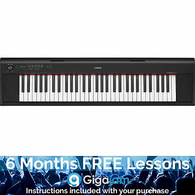 Yamaha Piaggero NP12 Electronic Keyboard with 6 Months Free Online Music Lessons