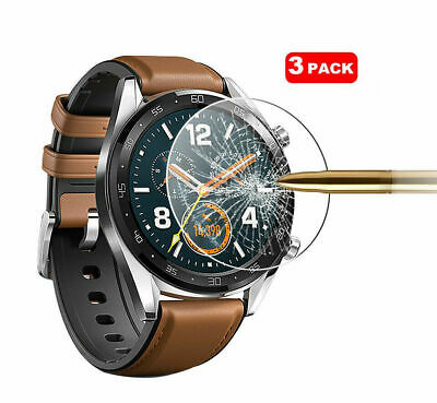 For Huawei Watch GT Tempered Glass Screen Protector Cover [3 Pack]