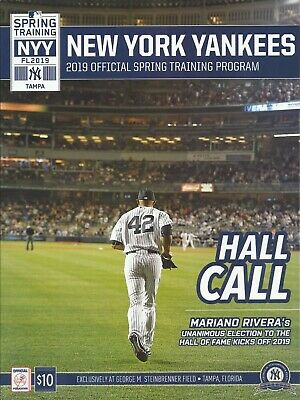 3e075c76f New York Yankees Official 2019 Tampa Spring Training Program Rivera w/  Schedule